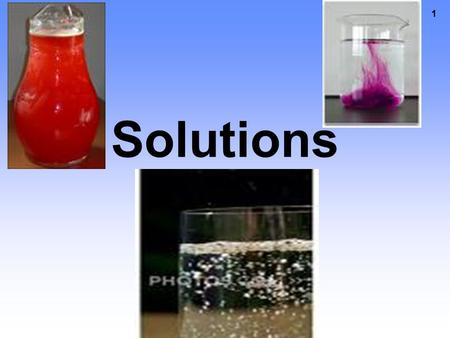 1 Solutions 2 Does a chemical reaction take place when one substance dissolves in another? No, dissolving is a physical change because no new substances.