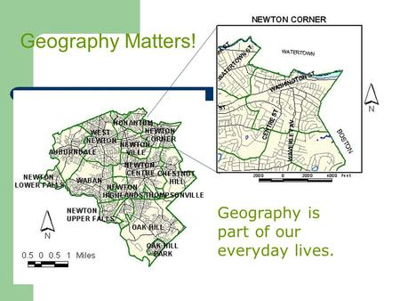 Geography is part of our everyday lives. Geography Matters!