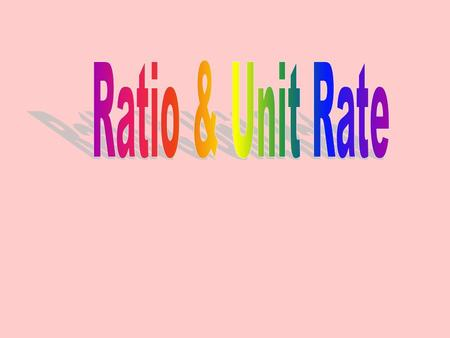 A ratio is a comparison of two or more quantities in the same category. Example: A ratio of boys to girls or A ratio of apples to oranges A ratio of cars.