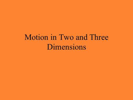 Motion in Two and Three Dimensions. 4-2 Position and Displacement The position vector is typically used to indicate the location of a particle. The position.
