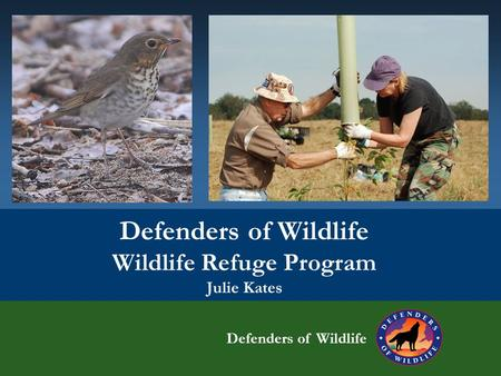 Defenders of Wildlife Wildlife Refuge Program Julie Kates Defenders of Wildlife.