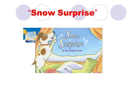 """ Snow Surprise "". mouse A small mammal in the rodent family. The mouse is very small."
