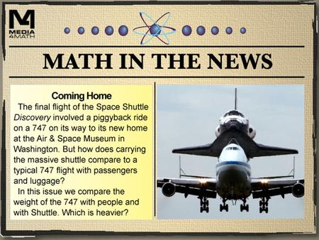 Visit this page on the NASA site to learn more about the Space Shuttle 747 ferry.  uttlecarrier/