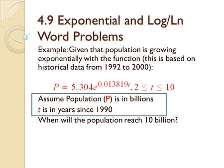 Chapter 3 Exponential and Logarithmic Functions - ppt download