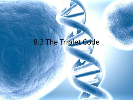 how to tell the triplet on dna