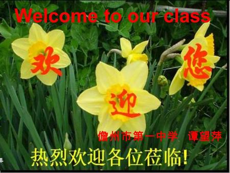 Welcome to our class 儋州市第一中学 谭望萍. Energy-giving food Body-building food Protective food rice noodles nuts butter meat fish tofu fresh fruit vegetables.