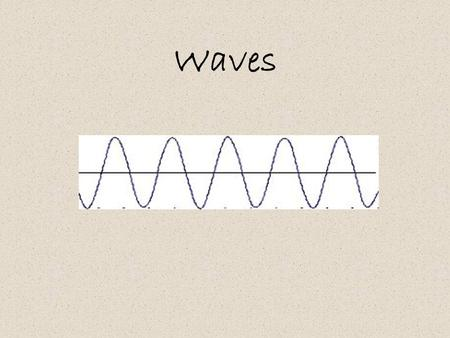 Waves. Electromagnetic Waves - do NOT require a medium to travel though Mechanical Waves - DO require a medium to travel though.