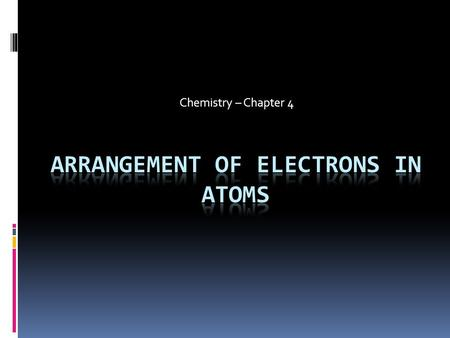 Chemistry – Chapter 4. Rutherford's Atomic Model.