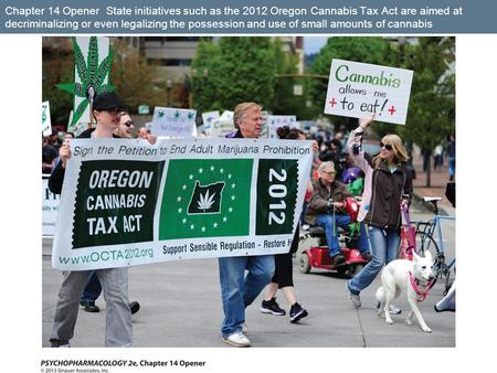 Chapter 14 Opener State initiatives such as the 2012 Oregon Cannabis Tax Act are aimed at decriminalizing or even legalizing the possession and use of.
