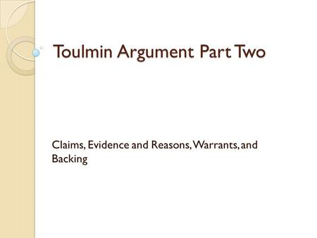 toulmin essay on gay marriage The toulmin essay will help you practice what you have learned so far in this course gay marriage, gays in the military, mandatory drug testing, euthanasia,.