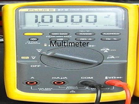 Multimeter. What is it? A multimeter can be a hand-held device useful for basic fault finding and field service work, or a bench instrument which can.
