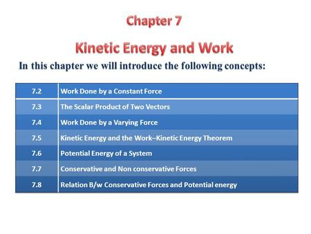 In this chapter we will introduce the following concepts: