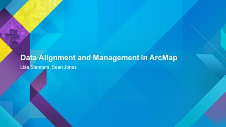 Data Alignment and Management in ArcMap