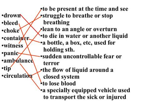 Drown bleed choke container witness panic ambulance tip circulation to be present at the time and see struggle to breathe or stop breathing lean to an.