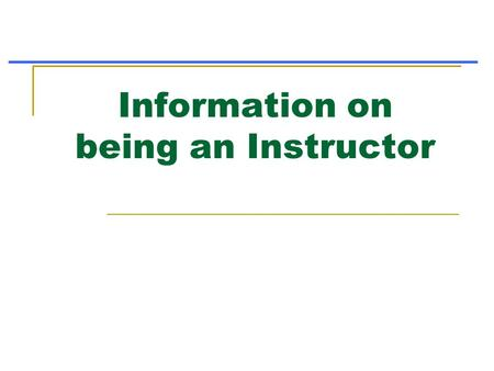 Information on being an Instructor. 1. Registering a Class Log into nsp.org and click on Member Resources.