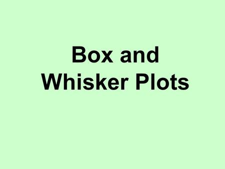 Box and Whisker Plots. 473021839463542 This data shows the scores achieved by fifteen students who took a short maths test. The test was marked out of.