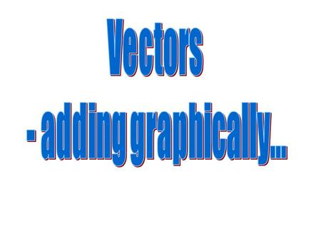 TIP-TO-TAIL METHOD We will be using the graphical tip-to-tail method of finding the resultant R of several vectors. To use this method you begin at any.