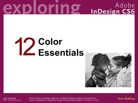 12 Color Essentials. Chapter 12 Objectives Understand the difference between spot and process colors. Use the Swatches panel to define color, tint, gradient,