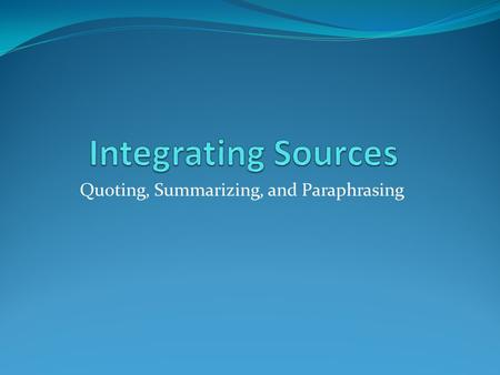 Citing Resources