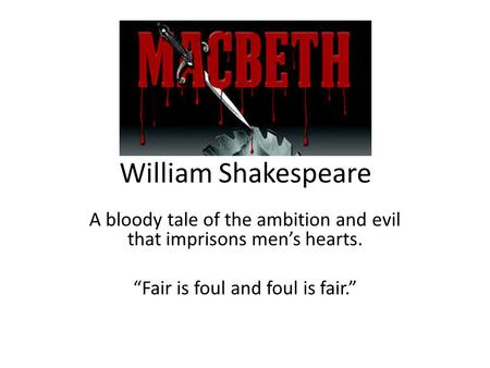 an analysis of the issue of ambition in macbeth by william shakespeare
