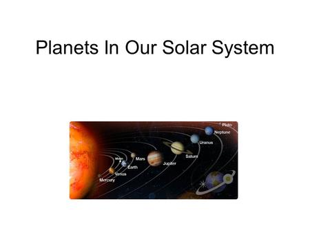 Planets In Our Solar System. Mercury Mercury is the planet closest to the Sun. Mercury's orbit of the Sun lasts for 88 days. Mercury is quite a small.