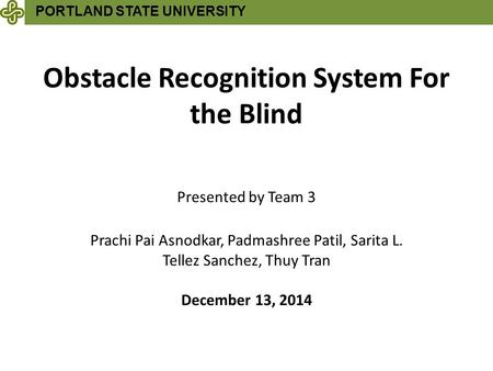 Obstacle Recognition System For the Blind