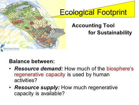 Ecological Footprint Accounting Tool for Sustainability
