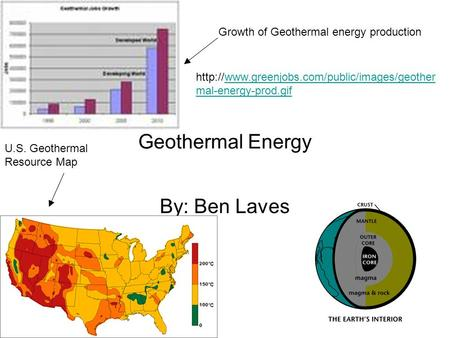 Geothermal Energy By: Ben Laves Growth of Geothermal energy production  mal-energy-prod.gifwww.greenjobs.com/public/images/geother.