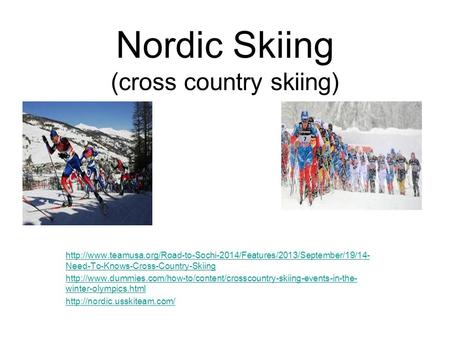 Nordic Skiing (cross country skiing)  Need-To-Knows-Cross-Country-Skiing