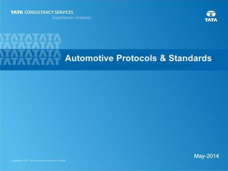 1 May-2014 Automotive Protocols & Standards. 2 CAN (Controller Area Network)  Overview Controller Area Network is a fast serial bus designed to provide.