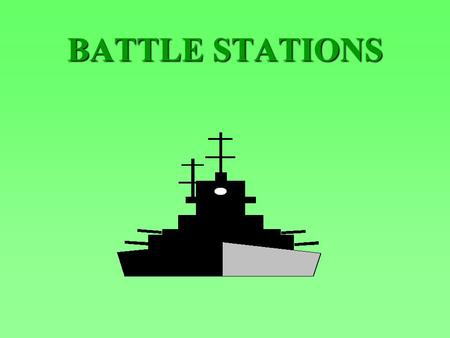 BATTLE STATIONS. ENABLING OBJECTIVES DESCRIBE the personnel, equipment response, and considerations for a Messing at Battle Stations evolution DESCRIBE.