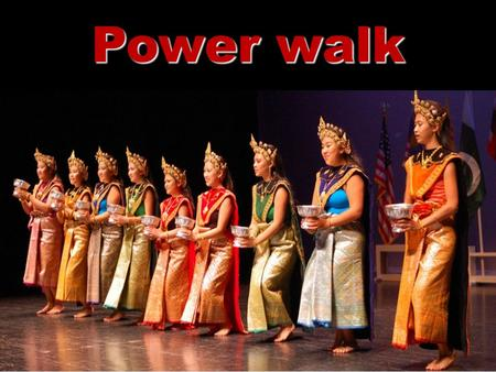 1 Power walk. 2 Was empowerment an obstacle for your character? Empowerment …a process that helps people gain and/or strengthen control of their lives.