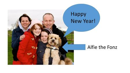 "Happy New Year! Alfie the Fonz. Our theme for worship this term is: ""The life and stories of Jesus who turned the world upside down."""