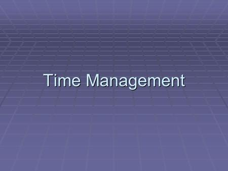 Time Management.  Time management is concerned with OS facilities and services which measure real time.  These services include:  Keeping track of.