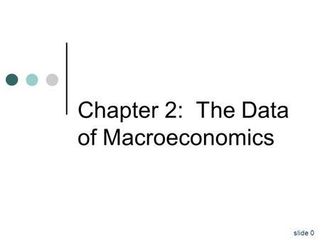 Slide 0 Chapter 2: The Data of Macroeconomics. slide 1 Gross Domestic Product (GDP) the Consumer Price Index (CPI Unemployment rate.