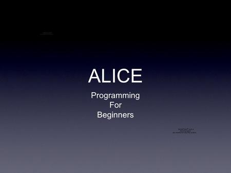 ALICE Programming For Beginners. ALICE Methods Program World Icon.