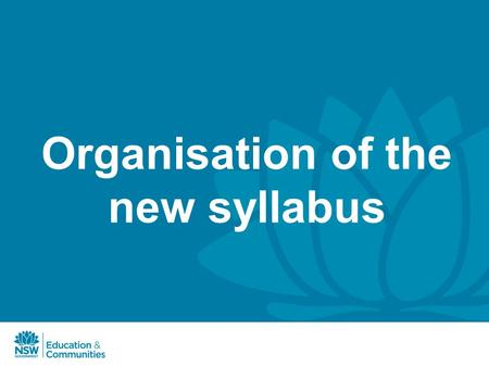 Organisation of the new syllabus. Overviews and Depth Studies Overviews can be used as an introduction to the historical period or integrated with the.