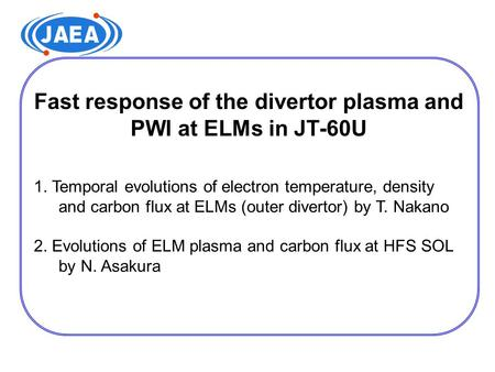 Fast response of the divertor plasma and PWI at ELMs in JT-60U 1. Temporal evolutions of electron temperature, density and carbon flux at ELMs (outer divertor)
