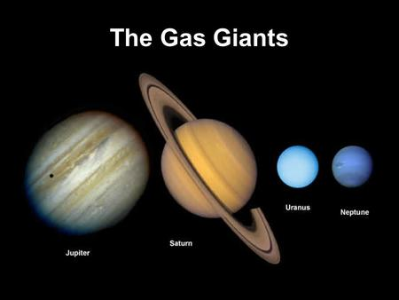 The Gas Giants. Jupiter Exploration of Jupiter Four large moons of Jupiter discovered by Galileo (and now called the Galilean satellites) Great Red Spot.