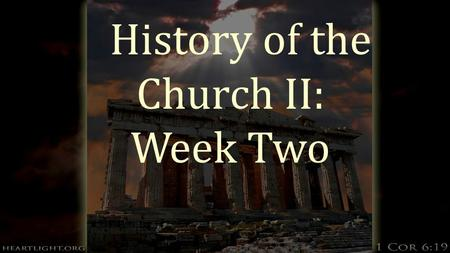 History of the Church II: Week Two. The Anabaptists  Read story page 247 from Church History.  Their most enduring idea is separation of church and.