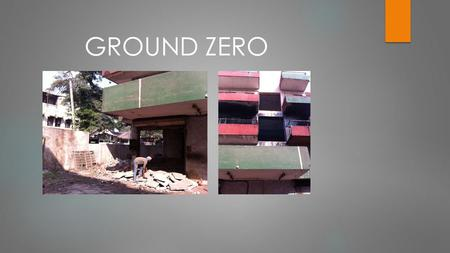 GROUND ZERO. The condition of the old factory was bad and worse, chaos and unorganization a daily agenda. Old factory.
