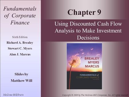 Chapter 9 Fundamentals of Corporate Finance