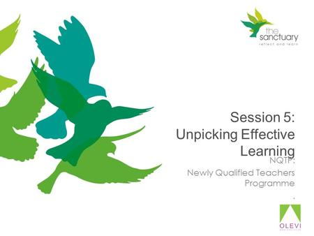 Session 5: Unpicking Effective Learning NQTP: Newly Qualified Teachers Programme.