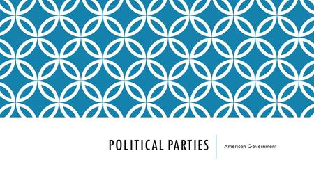 POLITICAL PARTIES American Government. POLITICS Politics is the academic study of government and the state  It looks at who gets what, when, how, and.