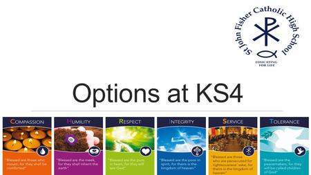 Options at KS4. Schedule Tomorrow – Options Subjects Forum 3 rd March – Options Evening for your parents 4 th March -Options Pilot in form time.