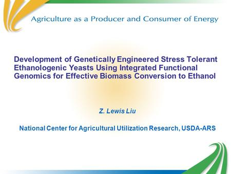 National Center for Agricultural Utilization Research, USDA-ARS
