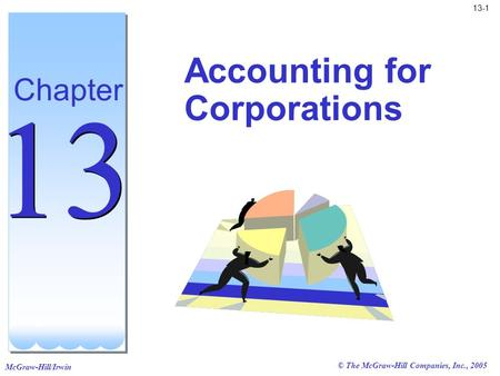 McGraw-Hill/Irwin 13-1 © The McGraw-Hill Companies, Inc., 2005 Accounting for Corporations Chapter 13.