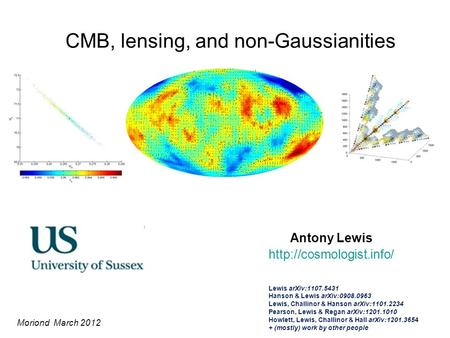 CMB, lensing, and non-Gaussianities