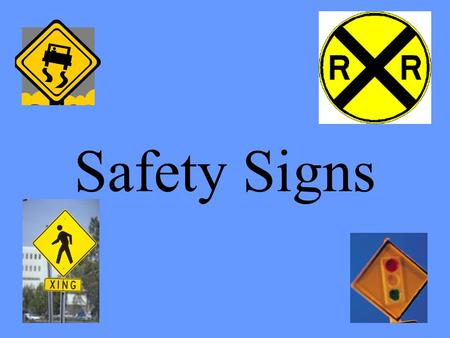 Safety Signs. Traffic Light Ahead Slow down and prepare to stop.