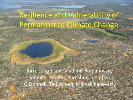 Resilience and Vulnerability of Permafrost to Climate Change